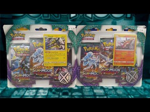 Opening BOTH Pokemon Guardians Rising Turtonator & Vikavolt 3 Pack Blisters Of Pokemon Cards!!!