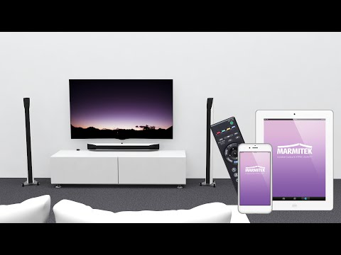 Control A/V equipment in a closed TV cabinet with smartphone, tablet or remote