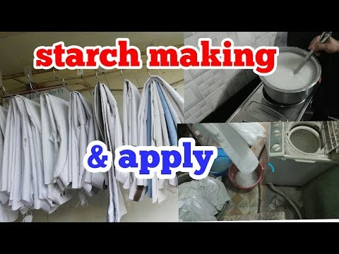 how to make home made starch & apply. ..very cheap & quickly making  starch . ( hindi)