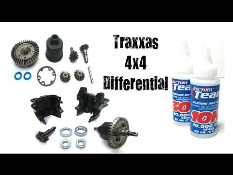 How To Maintain Clean & Re Oil Traxxas 1/10 4x4 Differentials (Slash, Stampede, & Rally)