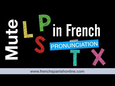 French Mute Letters L, P, S, T, X