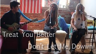 Treat You Better x Don't Let Me Down cover | mashup by Jada Facer and Neriah Fisher