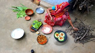 Traditional ZIL Pitha Recipe | Cooking West Tribe Pitha-Paratha in Village Style