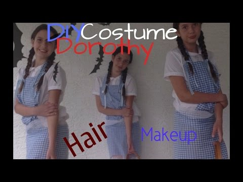 DIY Dorothy costume + hair and makeup