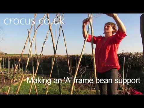 How To: Make an 'A' frame bean support