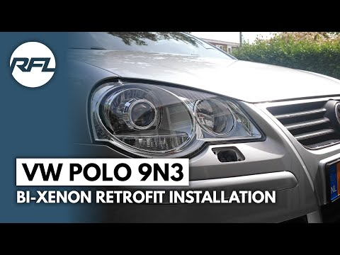 Volkswagen Polo 9n3, how to build xenon HID in your Volkswagen VW Polo 9n3, DIY