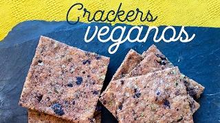 Galletas saladas o crackers veganos