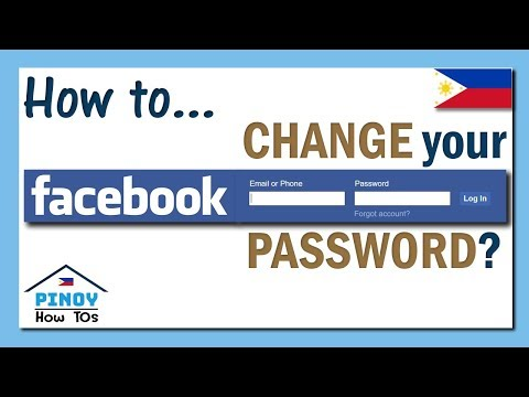 How to change your Facebook password using your mobile or phone (Tagalog)