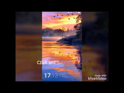 How to change lockscreen wallapaper in Gionee Amigo Locker