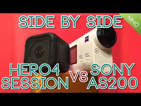 GoPro Hero4 Session vs Sony AS200V EVERY Aspect Covered