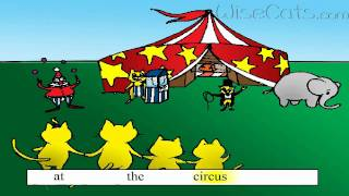 ASL102 - 'Popcorn at the Circus' song teaching kids sight words: at, he, pop, get