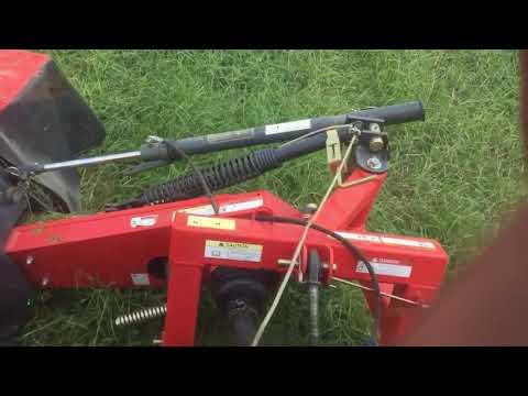 Mowing hay with Kubota DM1024 disc mower