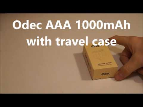 Odec Battery Case - comes with AAA Rechargeable Batteries 1000 mAh 16 pack