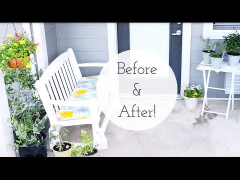 Apartment Patio Garden on a Budget | Dollar Tree - Before and After