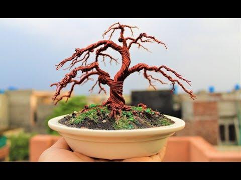 How to make Mini Autumn Wire Tree.