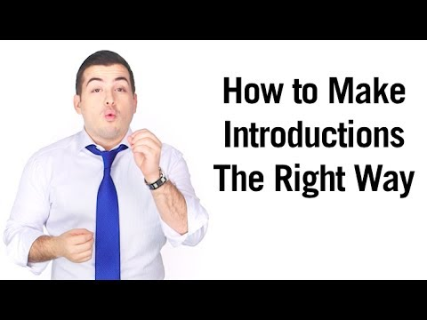 How to Make Introductions The Right Way
