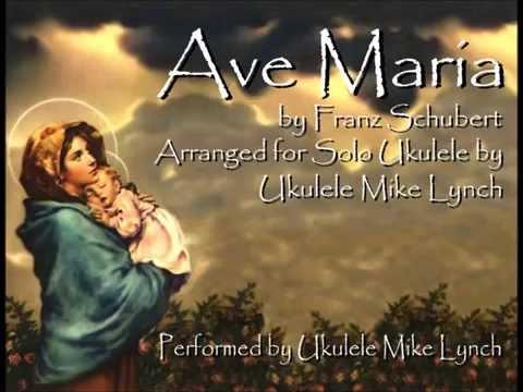 AVE MARIA by Franz Schubert - Arranged for solo ukulele by Ukulele Mike Lynch