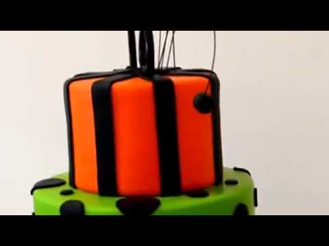 How to make cake 3 tiers birthday cake with fondant for 18th birthday