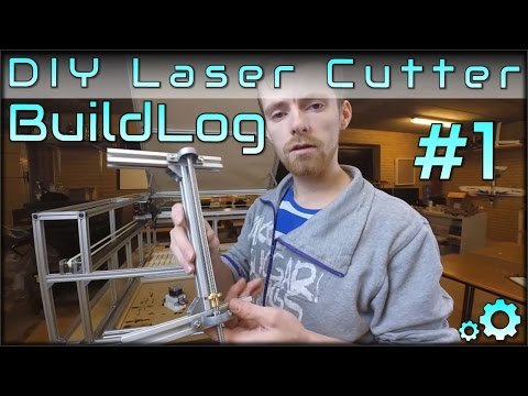 DIY Laser Cutter Buildlog - Part1 - Bed, Stepper Mounts and Leadscrews
