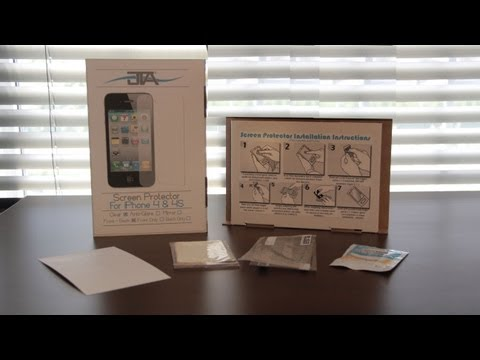 JTechApple Crystal Clear iPhone 4/4S Screen Protector Overview & Scratch Test