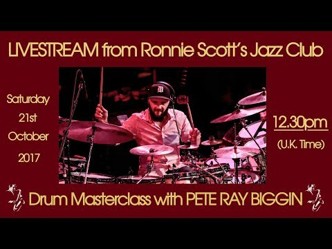 Saturday 21st October - 12.30pm(UK time) Live at Ronnie Scott's