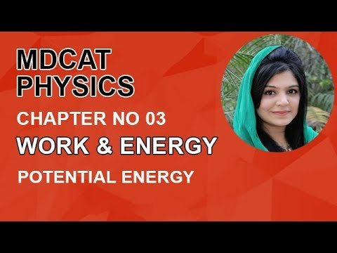 MDCAT Physics Lecture Series, Ch 3, Potential Energy, Physics Entry Test, ch 3