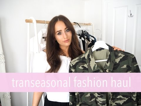 Transitional Fashion Haul Try On Zara Topshop New Look Sophie Milner Fashions Slave
