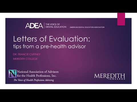Letters of Evaluation: Tips From A Prehealth Advisor