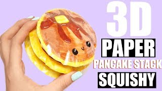 Download DIY PAPER PANCAKE STACK SQUISHY | how to make a squishy without foam Video