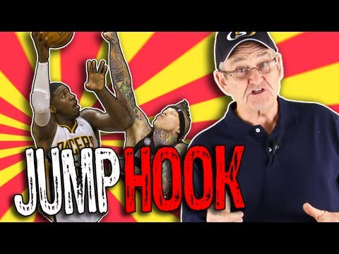 JUMP HOOK Basketball Shot! Low Post Move Tutorial  -- Shot Science Basketball