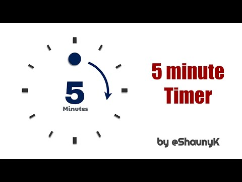 5 Minute Countdown Timer   with minute click sounds