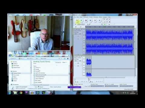 How to Record Guitar with Audacity using a backing track