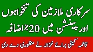 Increase pay and Pension 20% for Govt Employees in Pakistan l Pay Increase Govt Servants l