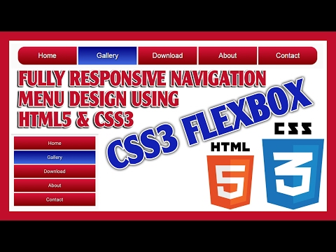 CSS3 FlexBox Navigation Menu Design Using HTML5 & CSS3   Responsive Navigation Menu