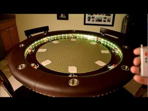 Custom Poker Table LED Effects