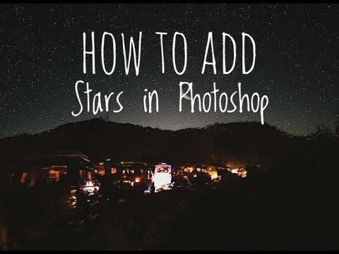 HOW TO ADD STARS IN PHOTOSHOP | USING NOISE