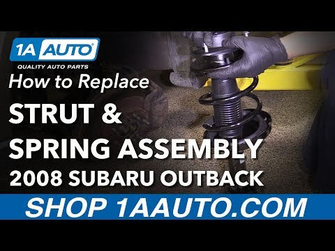 How to Install Replace Front Strut Spring Assembly 2005-09 Subaru Outback