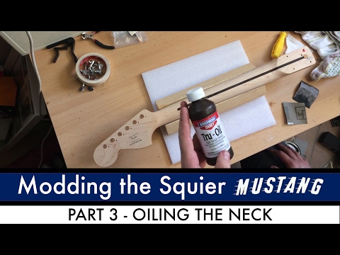 Modding the Mighty Bullet Mustang Part 3 - Oiling the Neck