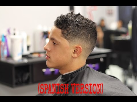 bald/skin low fade with long curly hair ( spanish version) atop by step how to