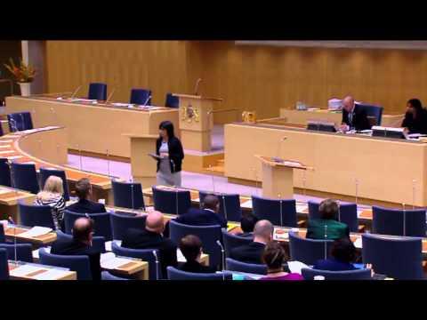 """Rossana Dinamarca (V) till Björn Söder (SD):  """"Du är inte min talman"""""""