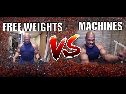 MACHINES VS FREE WEIGHTS: Which is Better?     * How to Get Bigger Muscles *