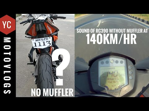 Ktm RC390 without Muffler | Loud Exhaust Note Without Exhaust + Won Autologue Design Parts | Ride