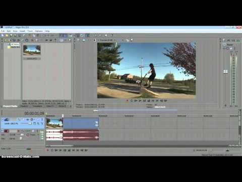 how to use fast & slow motion on sony vagas pro 10