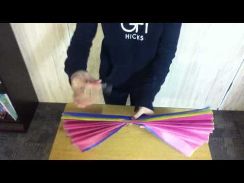 How to make flowers out of tissue paper (demonstration speech)