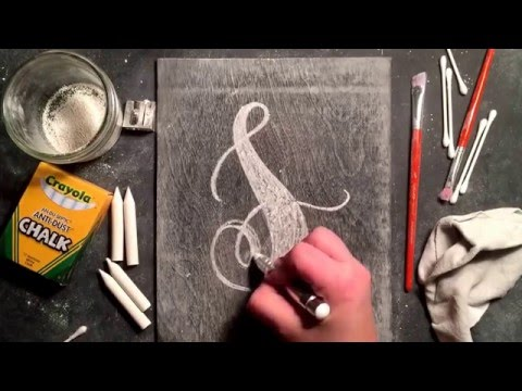 SheShe Design Chalk Script Lettering UPPERCASE S