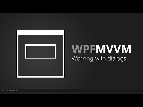 WPF MVVM - Working with dialogs