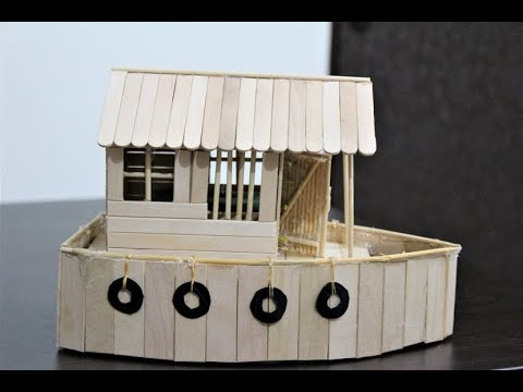 DIY Boat House using Ice Cream sticks