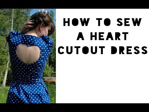 Heart Cut-Out for a Dress (Sewing Tutorial)