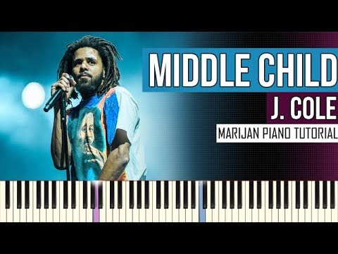 How To Play: J. Cole - Middle Child | Piano Tutorial
