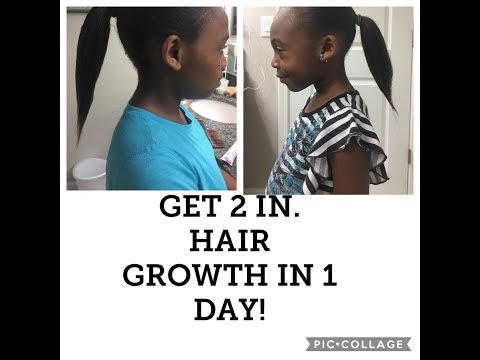 2 INCHES OF HAIR GROWTH IN 1 DAY USING LAWN FERTILIZER & RICE WATER! PART 1
